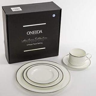 Dinnerware 5pc Place Setting Oneida Puritan Bone China Heirloom Litho Boxed [
