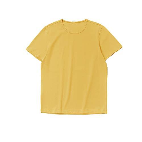 Preisvergleich Produktbild Nobrand Sommer-Shirt für Herren,  kurzärmelig,  Rundhalsausschnitt,  einfarbig,  halblange Ärmel Gr. XL,  gelb