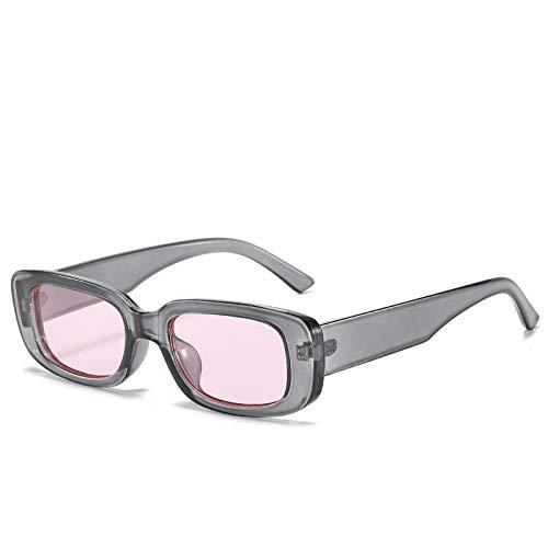 Cuadrado Vintage Retro Mujer Gafas De Sol Pequeño Marco Moda Marrón Leopardo Macho Uv400 Transparente Mujer Gafas De Sol