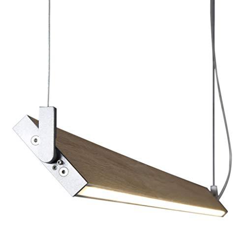 Ole By Fm Iluminacion - Lampara colgante Led 20W 4000K coleccion Manolo. Color Roble 100cm