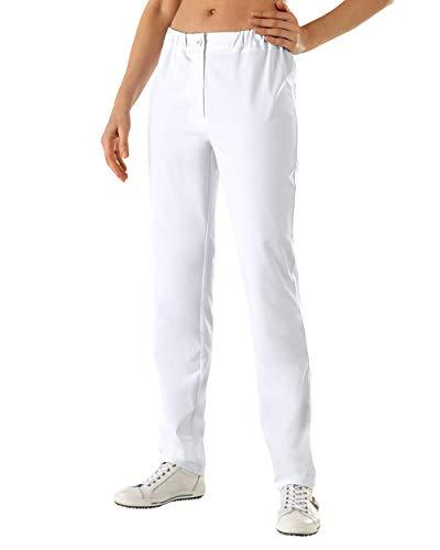 CLINIC DRESS - Damen-Hose Weiß Teilgummibund weiß 40