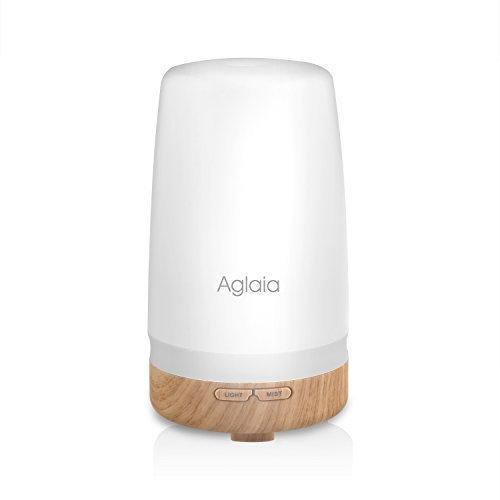 Aglaia Aroma Diffuser aus hochwertigem Plastik mit warmweiß Licht und Wasserlos automatisch abschalter Fuktion für Office, Yoga, Spa, Wohnhaus, Schlafzimmer (BE-A3 Plastik)