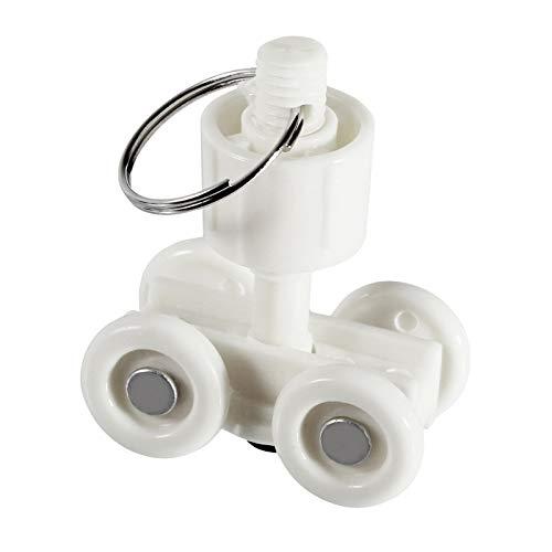 Rollwagen Kunststoff für 25mm Profil Ideal für Schweißvorhänge, Präsentationswände,Kinovorhang uvm. (Kunststoff C-Profil 25mm)