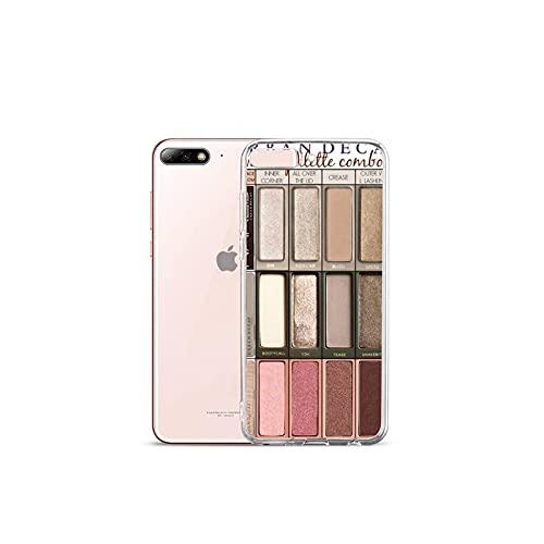 Moda Glam Maquillaje paleta teléfono caso transparente para el iPhone para Samsung A S 11 12 6 7 8 9 10 20 Pro X XS Max XR Plus lite-a9-iPhone8