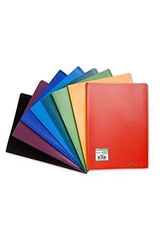 Exacompta - Réf. 8510E - 1 Protège-documents en polypropylène souple OPAK 20 vues / 10 pochettes grainées - A4 - Couleur aléatoire