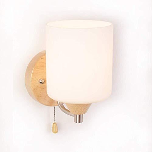 Wandlamp - met eenvoudige schakelaar wandlamp slaapkamer massief houten wandlamp hoofdlamp leeslamp outdoor lamp handig voor terras hotel hal