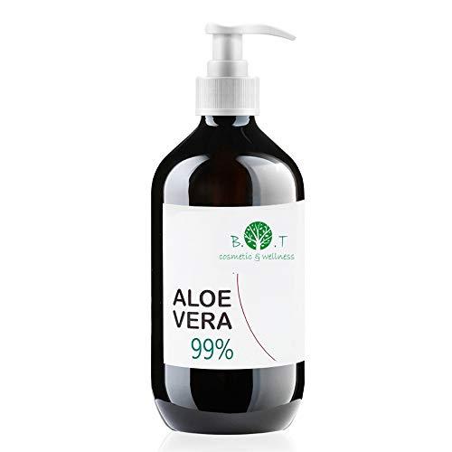 100% Naturel Gel de Aloe Vera Hydratant Visage Corps Cheveux Après l'épilation Soins des peaux déshydratées Feu du rasage Flacon Pompe 99% Pure 250 ml