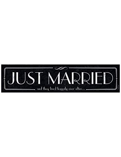 Matricula de Coche Boda ''JUST MARRIED''