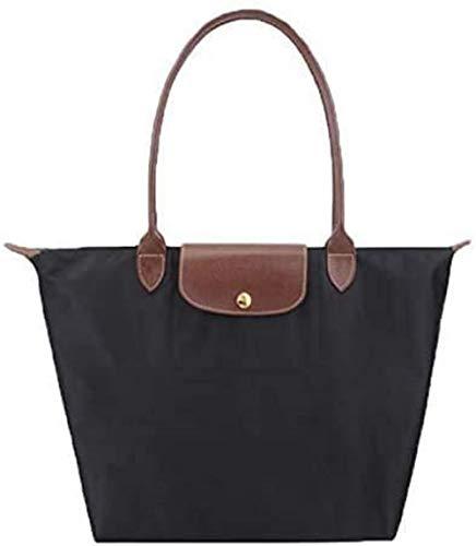 Hirsrian Women Tote Bag Womens Waterproof Handbags Shoulder Bag Messenger Bag Nylon Ladies Shopping Folding Tote Beach Travel Bag Casual Purse