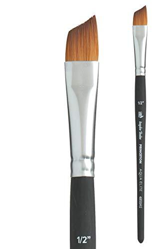 Princeton Aqua Elite, Series 4850, Synthetic Kolinsky Watercolor Paint Brush,Angle Shader, 1/2 Inch