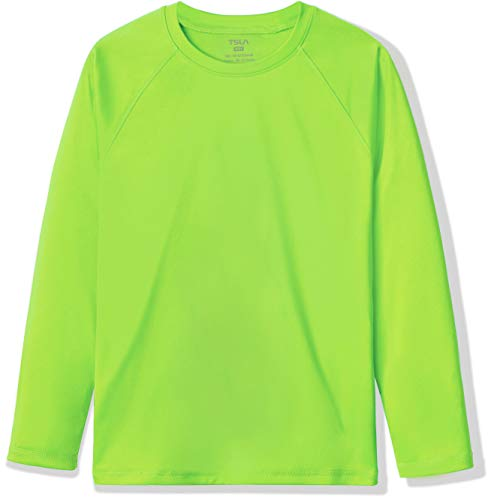 TSLA Bss34 - Costume da bagno a maniche lunghe con cerniera UPF 50+, protezione dai raggi UV, taglia XL, colore: verde lime