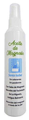 Aceite de Magnesio, Santa Isabel, con sales de Magnesio Naturales del Antiguo Balneario, del Yacimiento de La Higuera (España)