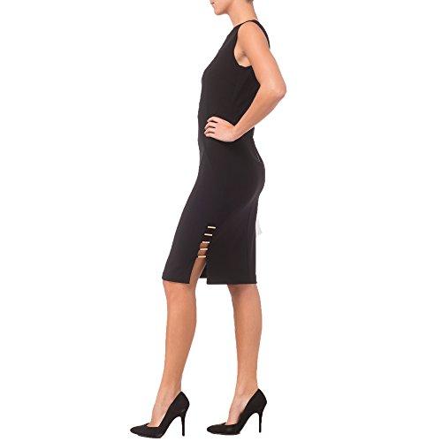 Joseph Ribkoff Abito Donna Nero Black Dress Style 181035 42