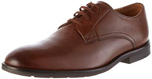 Clarks Ronnie Walk, Zapatos de Cordones Derby, Marrón (Tan Leather Tan Leather), 42 EU