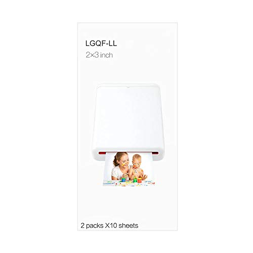 Carta fotografica Zink autoadesiva lucida, 2x3 pollici (5x7,6 cm), 20 fogli