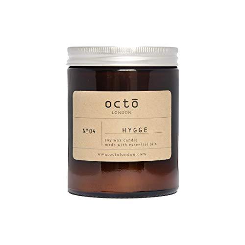 Hygge candle (Cinnamon, Orange, Clove) essential oil candle 180ml amber jar
