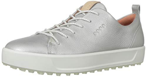 ECCO Women's Soft Low Hydromax Golf Shoe, alusilver Metallic, 5-5.5
