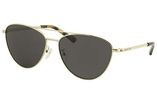 Michael Kors Damen 0MK1056 Sonnenbrille, Pale Gold/Dark Grey, 58