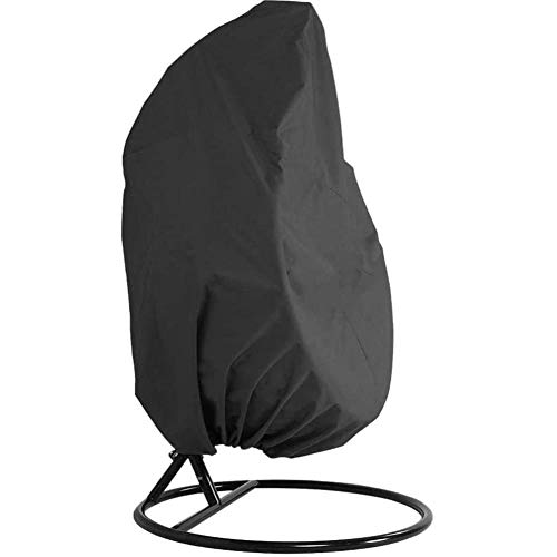 QAZXS Patio Hanging Chair Cover Dustproof Waterproof UV Outdoor Garden Furniture Covers 210D Oxford Fabric Hanging Egg Chair Cover