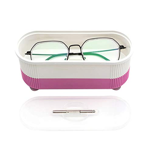 Color Yun Mini Limpiador de Joyas ultrasónico Mini Limpiador de Joyas portátil Limpiador de Gafas eléctrico Limpiador ultrasónico