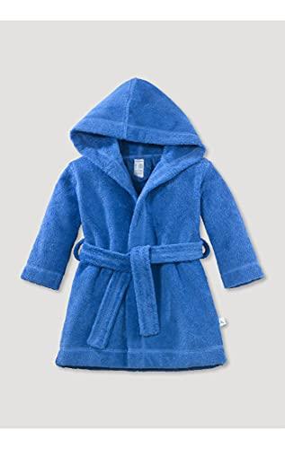 hessnatur Baby Mädchen und Jungen Unisex Bademantel aus Reiner Bio-Baumwolle hellblau 86/92