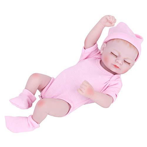 Duotar Boneca Renascida,Boneca bebê renascida de 10 polegadas com corpo de vinil boneca adormecida realista Bonecos de banho bonitos com rosto e cabelo pintados à mão Boneca menina
