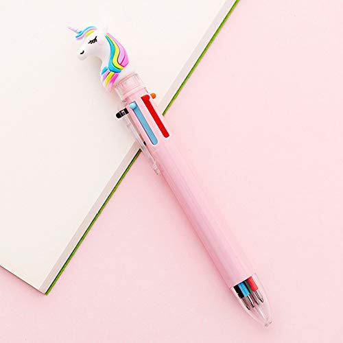 Zhongjiany - Bolígrafo 6 en 1 con diseño de unicornio, color Pink1