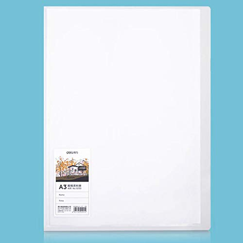 Azuzn 40-Pocket Bound Plastic Presentation Book, Presentation Portfolio with Clear Sleeves, 80-Page Capacity, for 11 x 16-Inch Inserts, Sheet Protector for Artwork, Drawing Photography or Sketching.