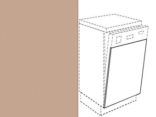 Premium-Ambiente FRT195 Unterschrank Front für Geschirrspüler FE (Breite 60cm-integriert, 57 Malaga beige)