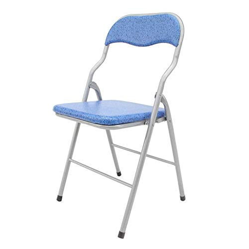 CTO Furniture-Portable Folding Chair Home Seat Waterproof Seat for Family Outdoor Courtyard Blue Folding Chair