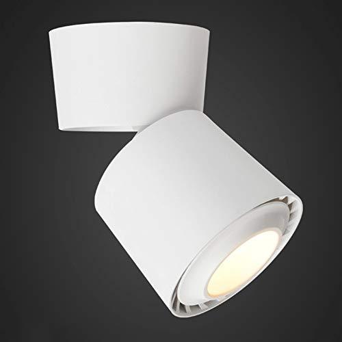Foco de techo montado en superficie de 12W LED, lámpara ajustable de 360 ° COB, Downlight giratorio plegable, Tienda de ropa nórdica Tienda de fondo de pared, accesorio de iluminación anti-deslumbra