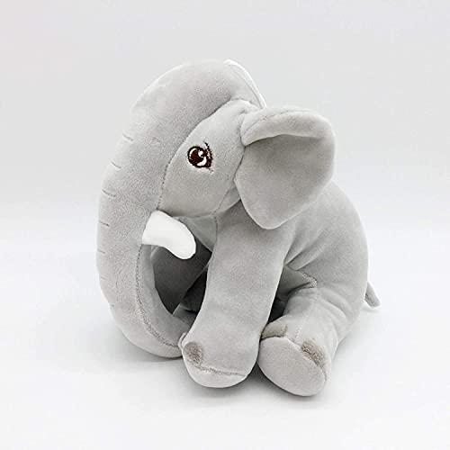 Peluche Super Cute Fluffy Elefante Animali di Peluche Che Abbraccia Cuscino Cuscino Bambola Regalo Di Compleanno Per Bambini Giocattoli Del Partito 8in/20 cm Grigio