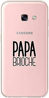 ZOKKO Case for Samsung A3 2017 Papa Brioche – Soft Transparent Black Ink