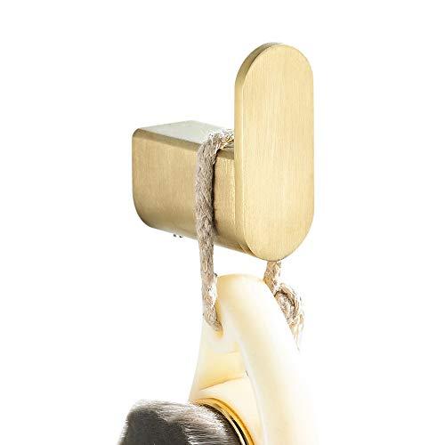BigBig Home Organizador de Ganchos para Toallas de baño de Cocina, Ganchos para Toallas de Color Dorado, Gancho para Ropa, de Acero Inoxidable