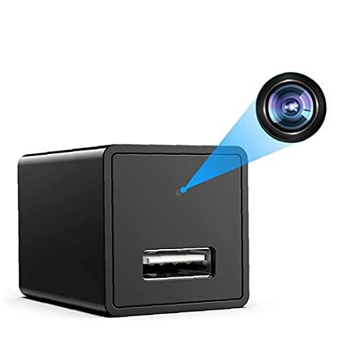 Tuimiyisou Portátil visión Nocturna Movimiento Adaptador de CA Detección Cargador de la cámara USB inalámbrico WiFi Cámara HD Remoto aplicación de la cámara de Control práctico Funcional