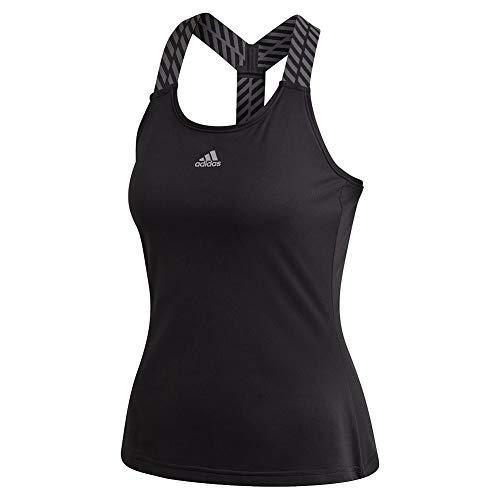 adidas Aeroready Tennis Y-Tank Camisa, Negro/Gris, Extra-Small para Mujer