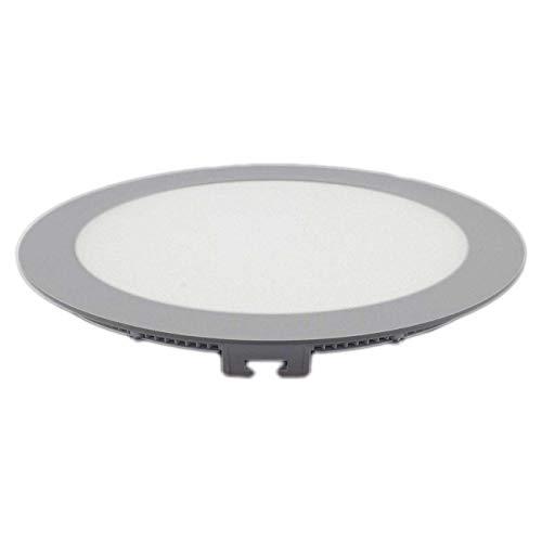 Preisvergleich Produktbild LED Einbaustrahler Panel silber rund Ø 22cm 18 Watt neutralweiß