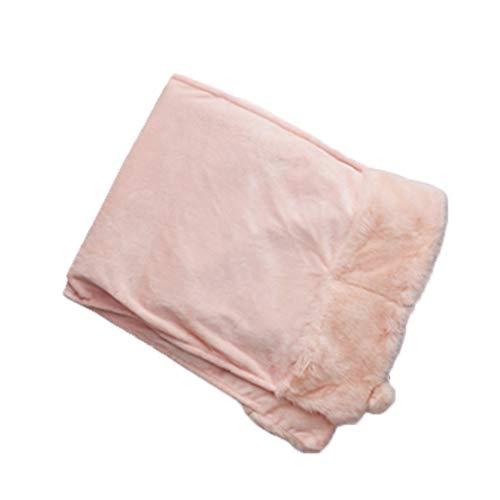 Elektrische Abdeckung Decke Rosa Kaninchen Schwanz Schal 140X50x3cm Schnelle Heizung Warm Körper Elektrische Decke 2H Auto Power Aus Einem Knopf Bedienung Jacke Waschbar