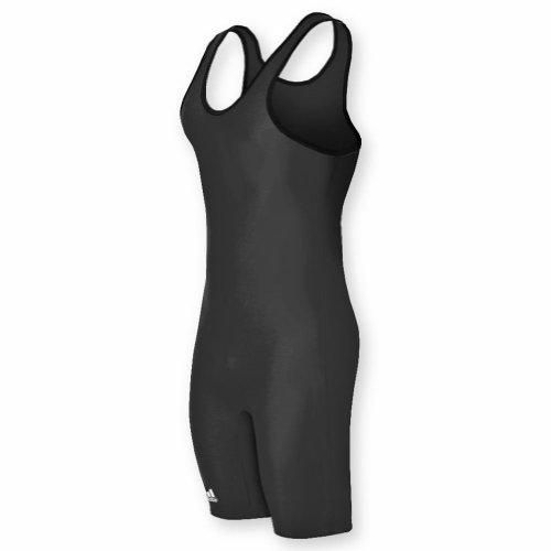 Adidas aS101s Lycra Solid Wrestling Singlet - Black - Large