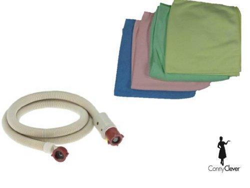 Aquastop / Aquastopschlauch / Sicherheitsschlauch für Waschmaschine oder Geschirrspüler - Länge 1,5m + Microfasertuch als Geschenk