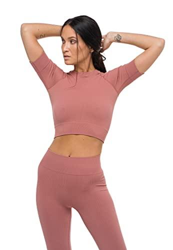 HEART AND SOUL Top Sportivo Donna-T-Shirt-Infinity Reggiseno, Desert Rose, Regular