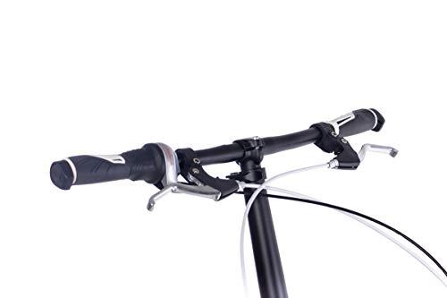 CHRISSON 20 Zoll Faltrad Klapprad - Foldrider 3.0 schwarz - Faltfahrrad für Herren und Damen - 20 Zoll klappbares Fahrrad mit 7 Gang Shimano Nexus Nabenschaltung - Folding City Bike - 8