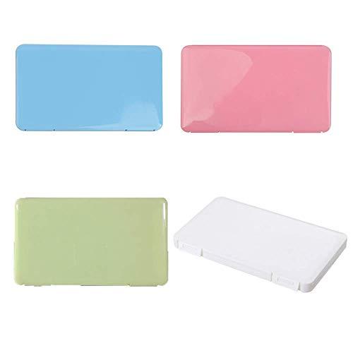 LANZI Caja portátil de Almacenamiento de mascarillas Desechables, Caja de Limpieza a Prueba de Polvo y Humedad, Caja de Almacenamiento de algodón filtrado (4pcs)