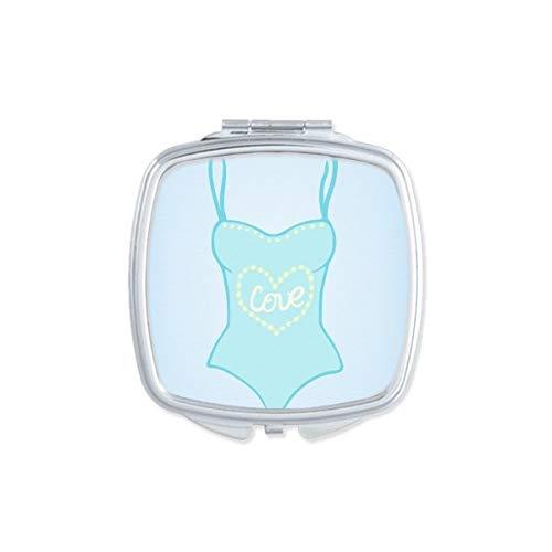 DIYthinker Dentelle Sexy Bikini Illustration Motif carré Miroir de Maquillage Compact Portable Mignon Cadeau Miroirs de Poche à la Main Multicolor