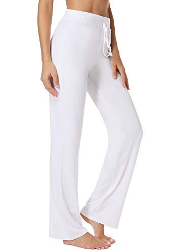 FITTOO Pantalones De Yoga Sueltos Cintura Alta Mujer Pantalones Largos Deportivos Suaves Cómodos