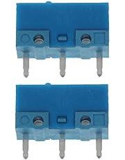 siwetg 2 szt. oryginalny HUANO niebieska kropka niebieska powłoka 0,74 N mysz mikro przełącznik złoty stop styki 50 milionów żywotności huanuo niebieska powłoka kropki mysz mikroprzełącznik