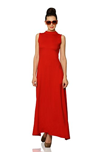 Miss Chase Women's Cotton A-Line Dress (MCS14D02-44-64_Red_XS)