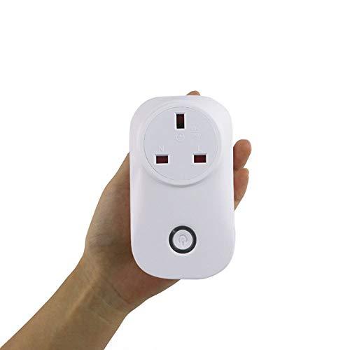 yjll Wi-Fi Smart Plug Alexa - schakelstopcontact voor het bedienen van lichten en apparaten via telefoon werken met Amazon Echo