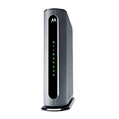 MOTOROLA MG8702 DOCSIS 3.1 Cable Modem Plus AC3200 Dual Band WiFi Gigabit Router with Power Boost and MU-MIMO. Approved for Comcast Xfinity.