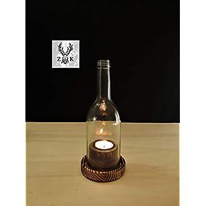 Wein Windlicht # 1.2 Rustikal kurze Flasche
